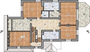Проект дома в фахверковом стиле Рейн, план 2 этажа