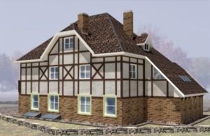 Проект дома в фахверковом стиле Рейн, внешний вид 4