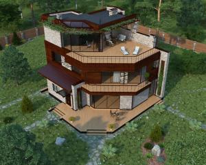 Сиверка - проект дома с плоской эксплуатируемой кровлей