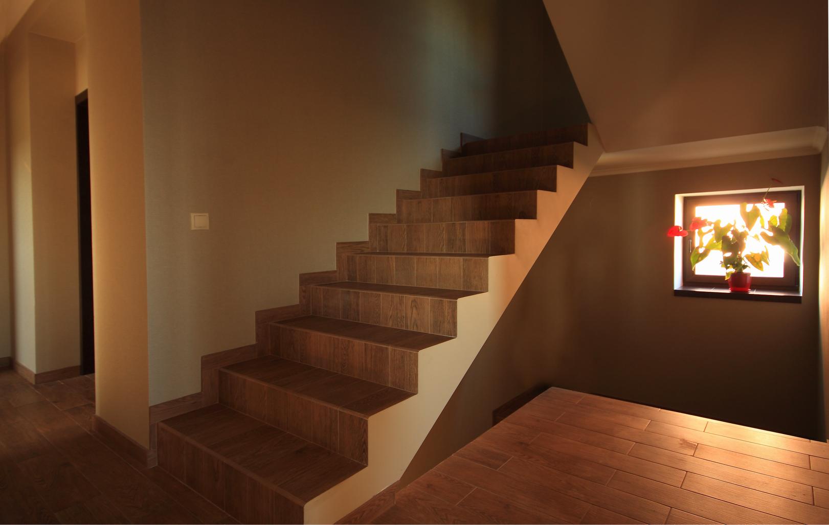 Реализация проекта Ворскла - Проект дома на склоне, лестница