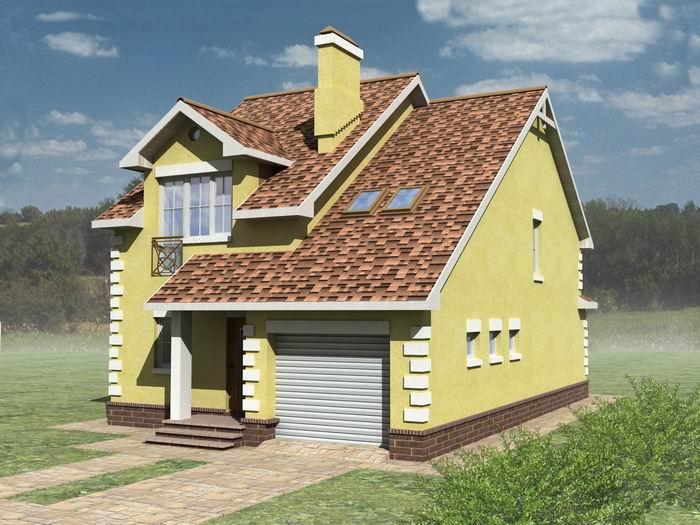 Внешний вид, проект дома для узких участков Днестр-150