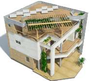 Houses with flat roofs