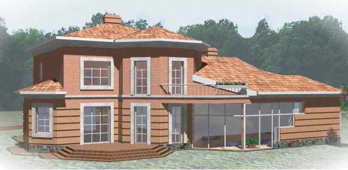 Внешний вид, проект Днепр - проект дома с террасами