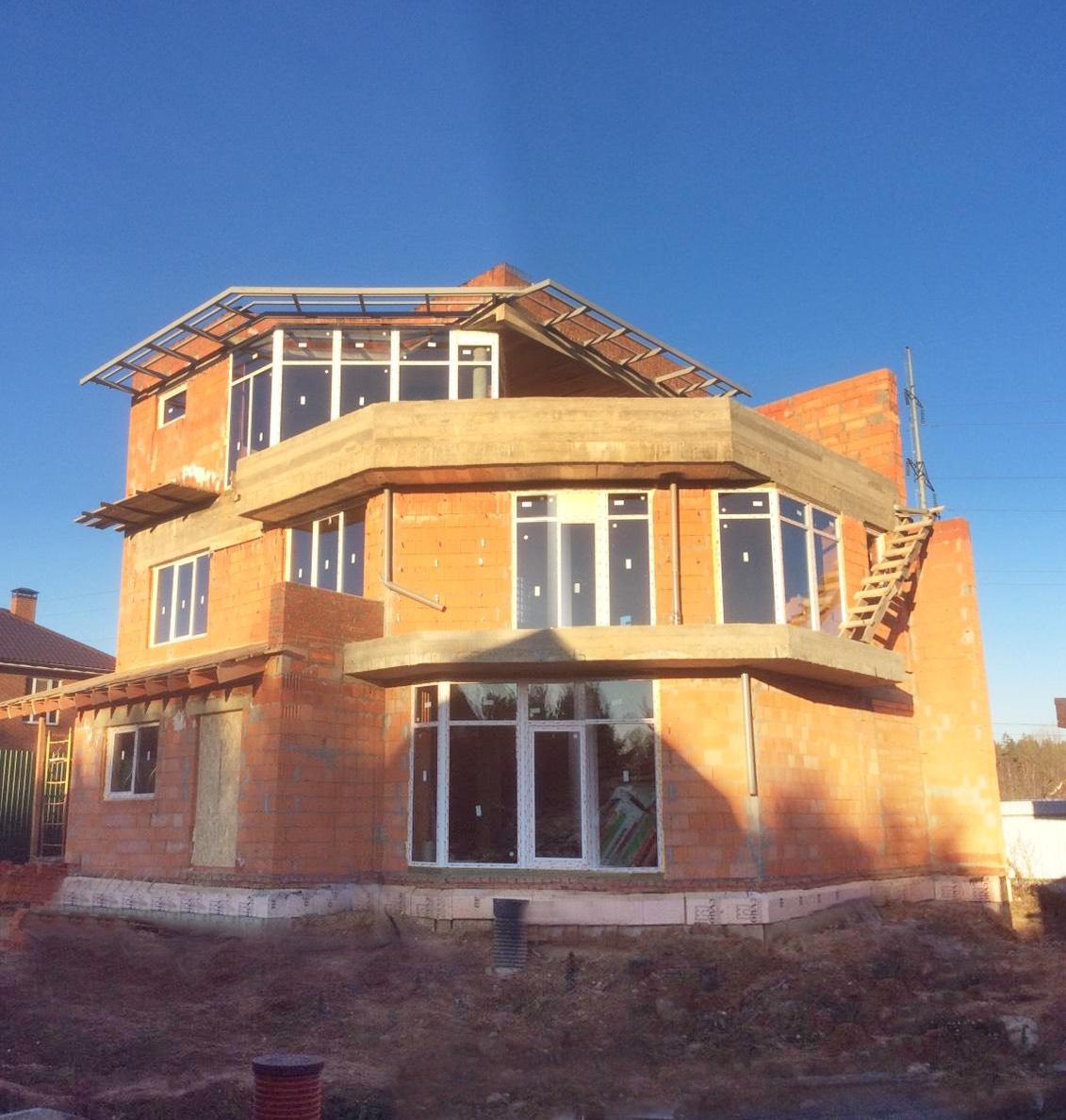 Проект Сиверка - дом с плоской эксплуатируемой кровлей, террасами и панорамными окнами - реализация, Одинцово, 2018, ноябрь