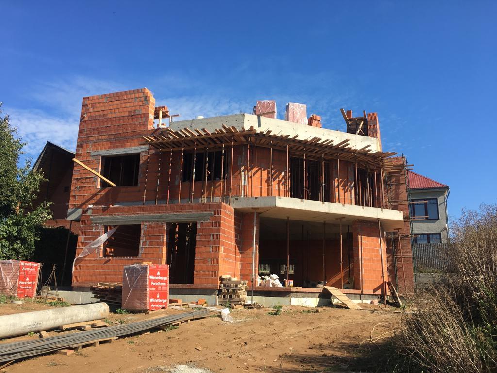 Проект дома с плоской крышей, террасами и панорамными окнами - проект Сиверка; реализация в Подольске, 2018