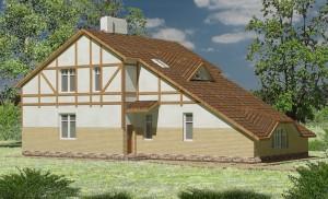 Проект дома А3 в фахверковом стиле, вид 3
