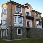 Проект дома на склоне А1, реализация