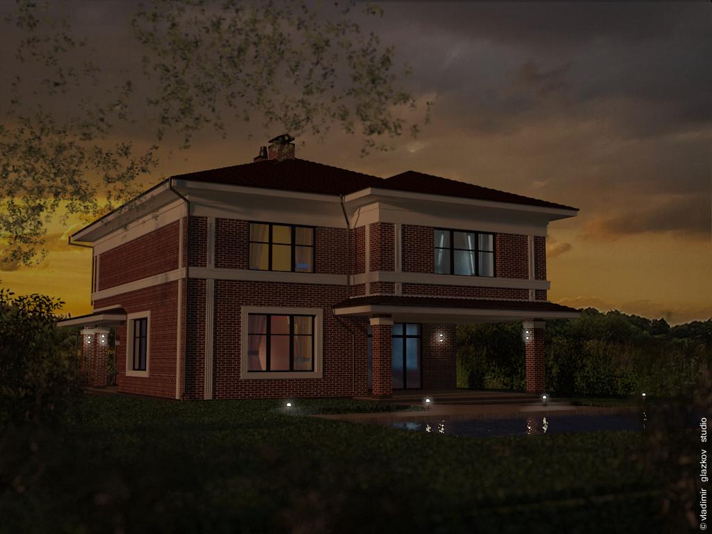 Проект A7 - дом в классическом стиле