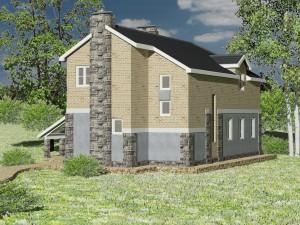 Внешний вид, проект дома для узких участков Нарва-150