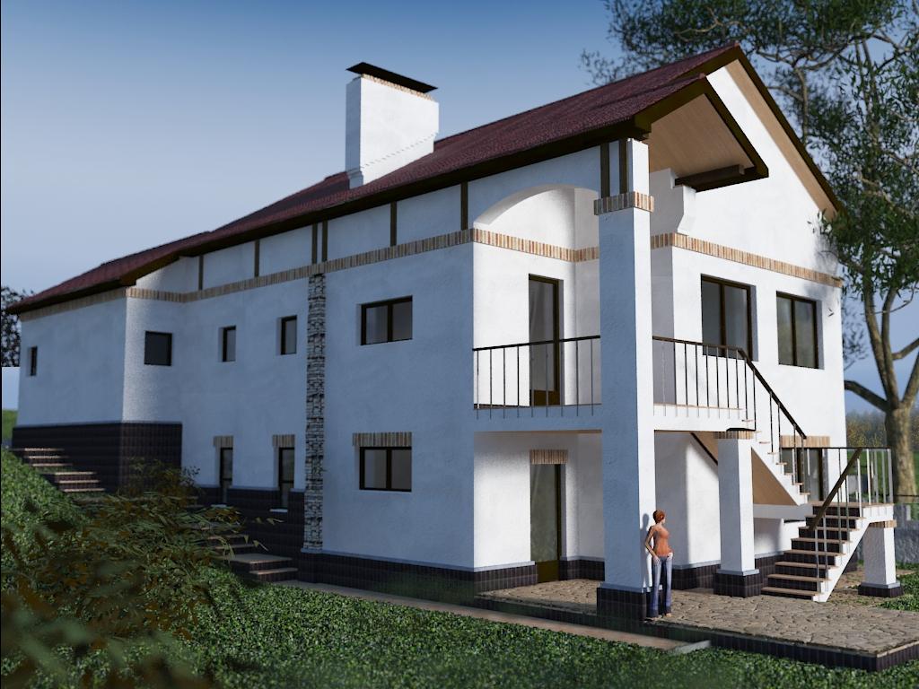 Внешний вид, проект Ворскла - Проект дома на склоне