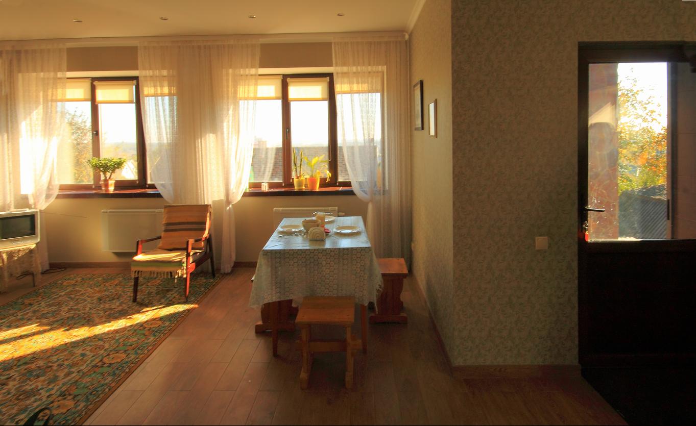 Реализация проекта Ворскла - Проект дома на склоне, гостиная