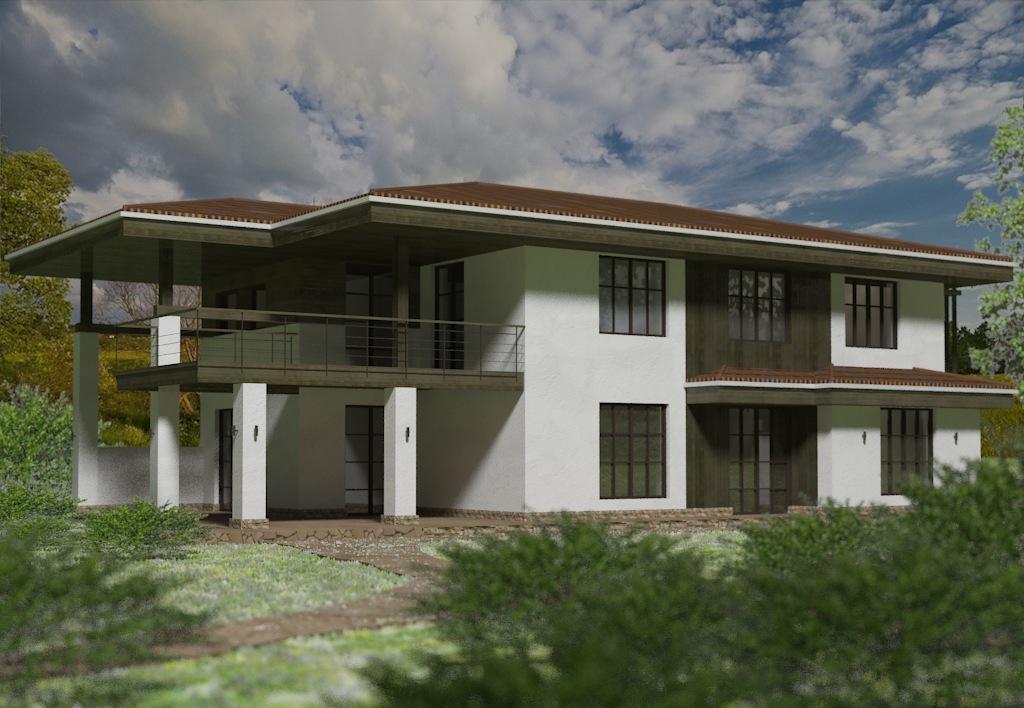 Проект дома с панорамными окнами и террасами Гаронна, вид 3