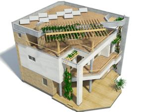 Проект дома с плоской кровлей Парма-240