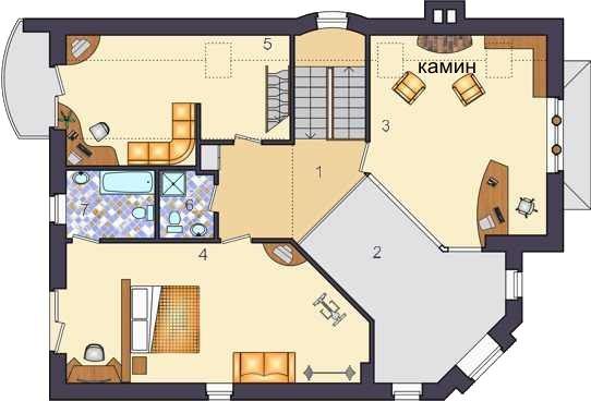 План 2 этажа, проект Темза-I-250
