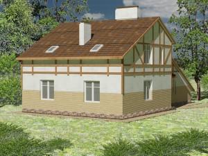 Проект дома А3 в фахверковом стиле, вид 4